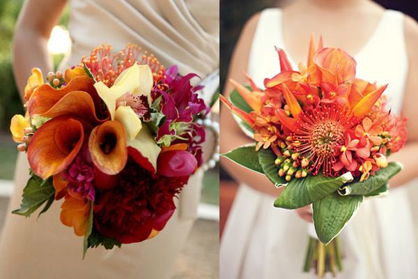 Orange Wedding Bouquets - Elizabeth Anne Designs: The Wedding Blog