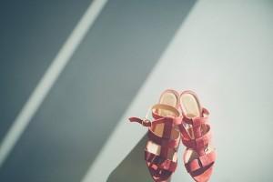 Peach Colored Bridal Shoes