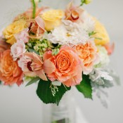 Peach Yellow and White Bouquet