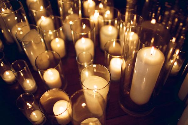 Pillar Candle Wedding Ceremony Decor