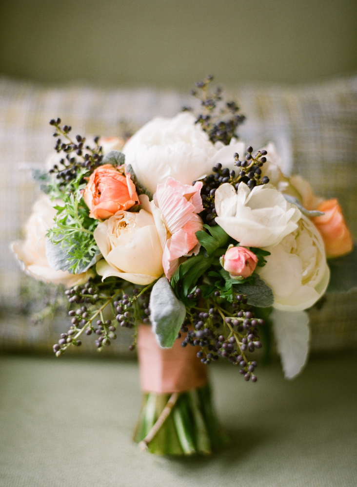 Privet Peony and Anemone Bouquet - Elizabeth Anne Designs