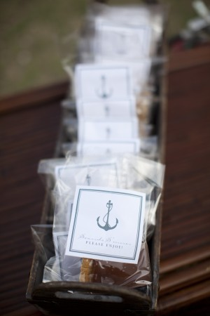 Rehearsal Dinner Favor Packages With Anchor Motif