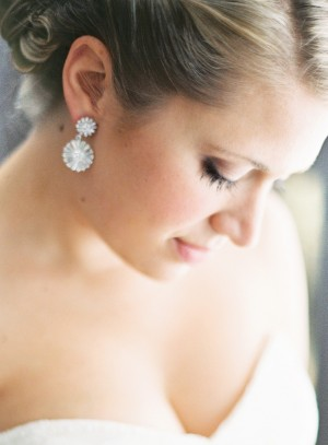 Rhinestone Drop Bridal Earrings