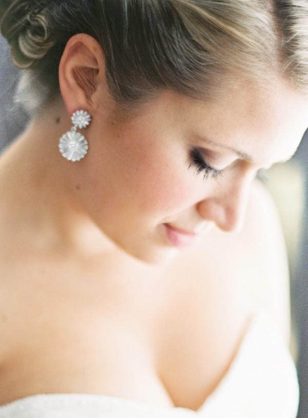 Rhinestone Drop Bridal Earrings