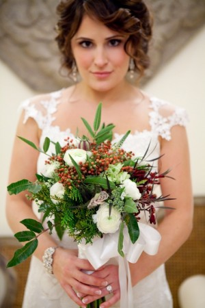 Rose Berry and Greenery Bouquet