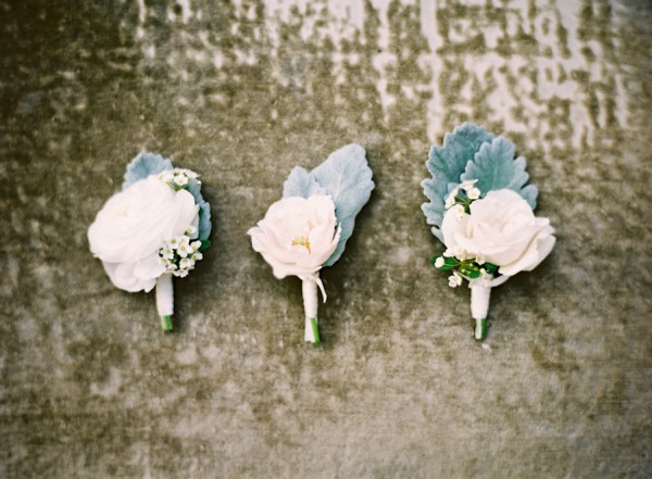 Rose and Dusty Miller Boutonierres