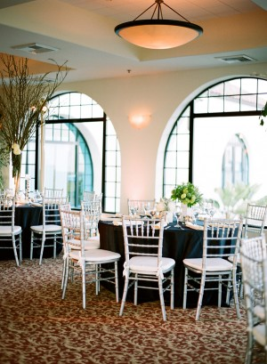 Round Reception Tables With White Chairs
