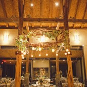Rustic Branch Chandelier With Hanging Votives 1