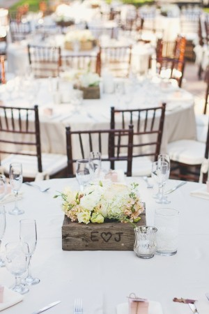 Rustic Etched Wood Centerpiece