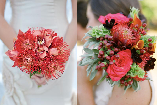 Salmon Wedding Bouquets