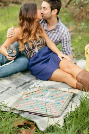 Scrabble Game Engagement Photo