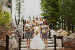 Short Gray Bridesmaids Dresses 1