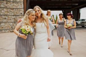 Short Gray Bridesmaids Dresses