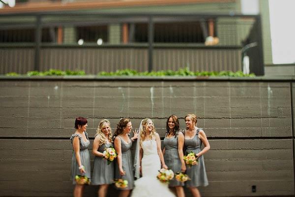 Short Gray Bridesmaids Dresses1