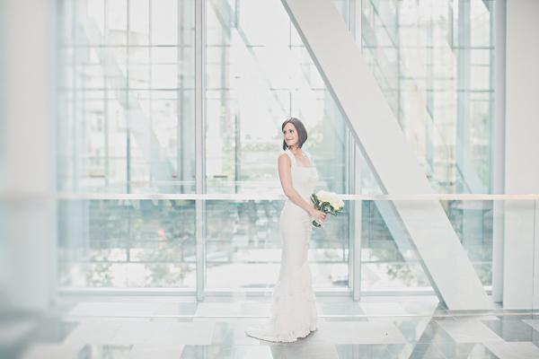 Sleeveless Column Style Wedding Gown 1