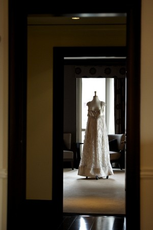 Sleeveless Empire Waist Bridal Gown