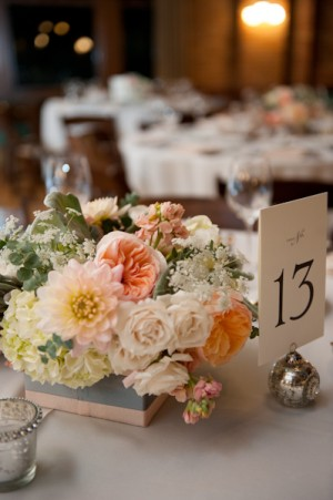 Soft and Romantic Wedding Centerpiece