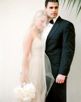 Spaghetti Strap Bridal Gown With Cathedral Length Veil