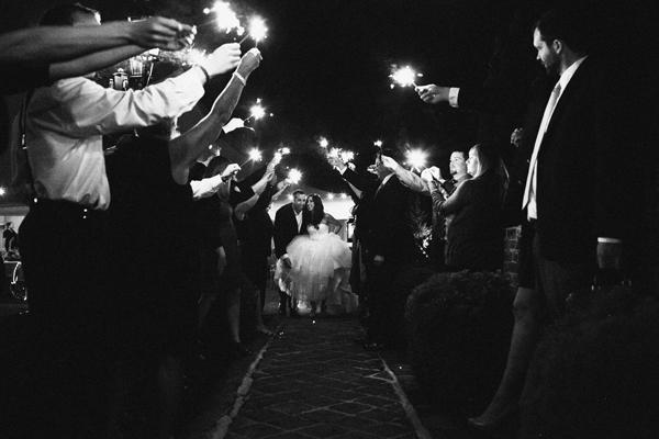 Sparkler Wedding Getaway