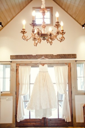 Strapless Bridal Gown With Full Textured Skirt 1