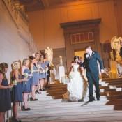 Strapless Gray Blue Bridesmaids Dresses 2