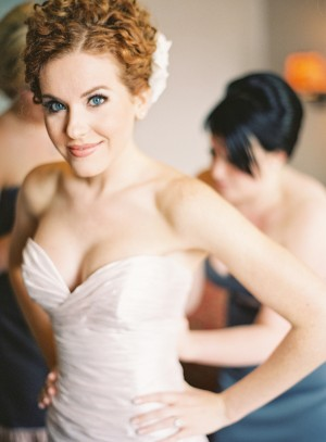 Strapless Ruched Bridal Gown
