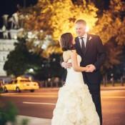 Strapless Wedding Gown With Flower Detail Full Skirt 2
