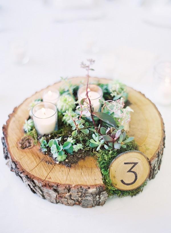 Succulent Moss and Votive Centerpiece