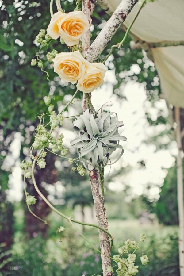 Succulent and Rose Chuppah Garland