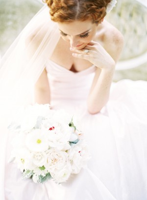 Sweetheart Neckline Blush Wedding Dress