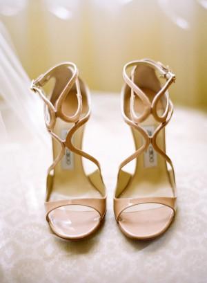 Tan Strappy Bridal Heels