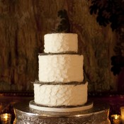 Three Tier Round Wedding Cake With Twig Decoration