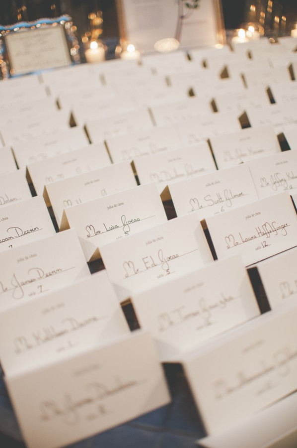 Traditional Reception Place Cards