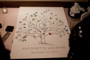 Tree Illustration Guest Book Poster