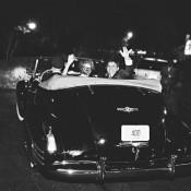 Vintage Black Getaway Car