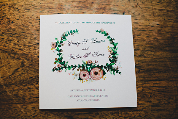 Illustrated Floral Wedding Invitation
