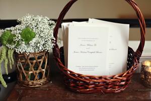 Wedding Ceremony Programs in Basket