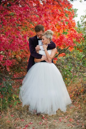 Wedding Gown With Full Tulle Skirt