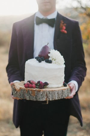 White Frosted Wedding Cake With Fruit Accent 2