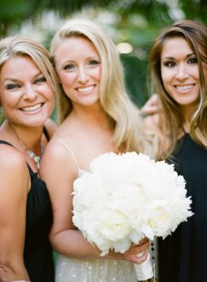 White Peony Bridal Bouquet 1