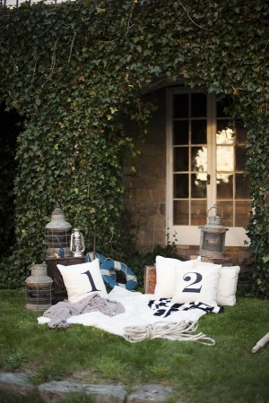 White Pillows With Black Numbers
