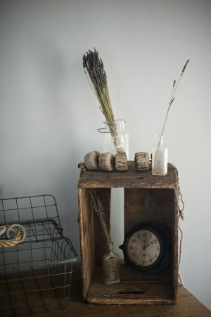 Wooden Crate With Vintage Accessories