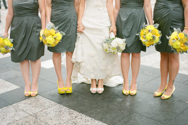 Yellow and grey wedding bridesmaids bouquets elizabeth anne yellow and grey wedding bridesmaids bouquets mightylinksfo