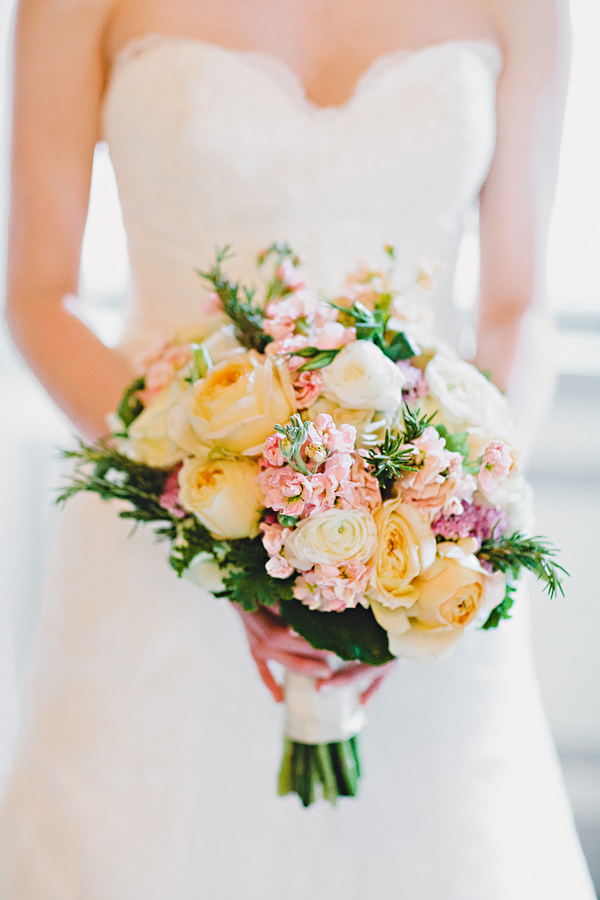 Yellow And Pink Bridal Bouquet Elizabeth Anne Designs