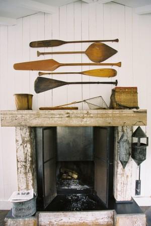 Antique Oars on Wall