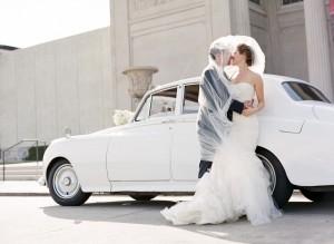 Antique White Getaway Car