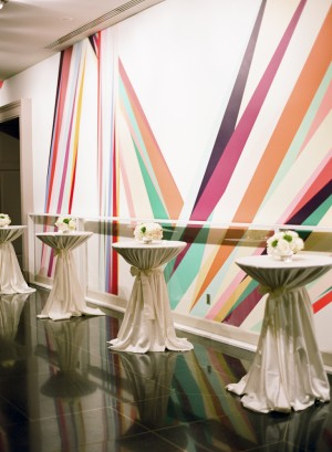 Art Museum Reception Cocktail Tables