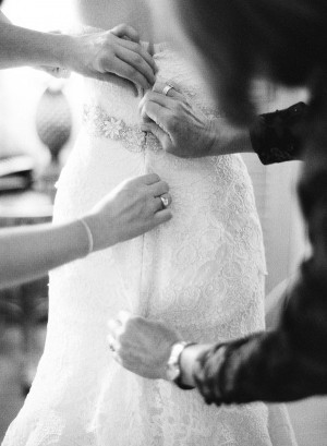Back of Lace Wedding Gown