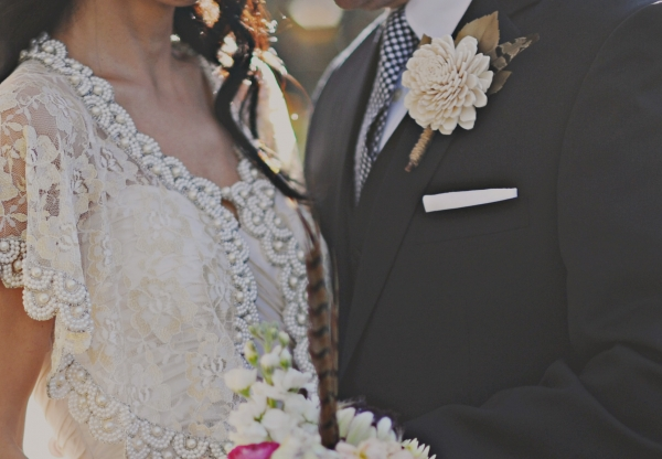 Beaded Bridal Capelet