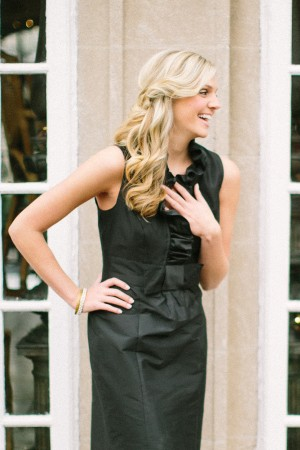Black Ruffled Bridesmaids Dress